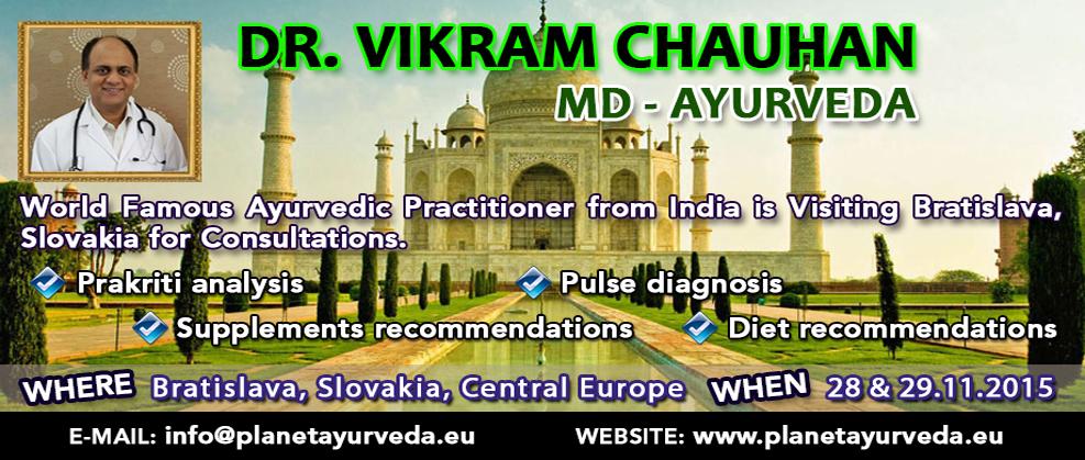 ayurvedic treatment, ayurvedic consultations, bratislava, slovakia, central europe, dr vikram chauhan events