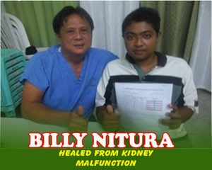 Billy Nitura (Healed from Kidney Malfunction)