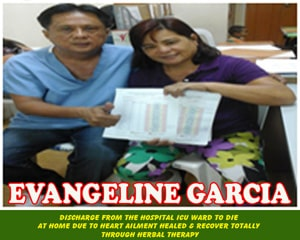 Evangeline Garcia (Heart Ailment healed and recover totally)