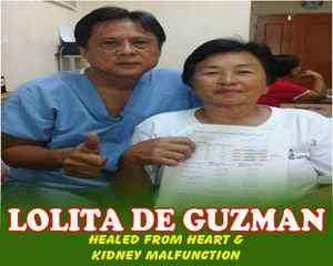 Lolita De Guzman (Healed from Heart & Kideny Malfunction)