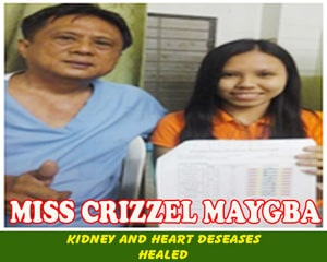 Miss Crizzel Maygba (Kidney and Heart Deases healed)