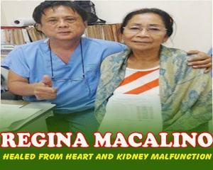 Regina Macalino (Healed from heart and malfunction)