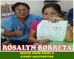 Rosalyn Borreta (Healed from Heart & Kidney Malfunction)