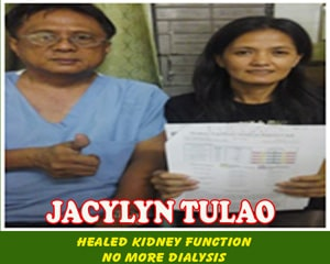 Jacylyn Tulao (Healed Kidney Function)