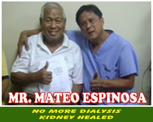 Mr. Mateo Espinosa (Kidney Healed)
