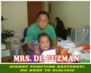 Mrs. De Guzman (Kidney Function Restored)