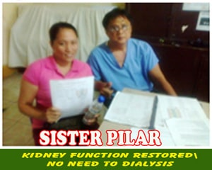 Sister Pilar (Kidney Function Restored)