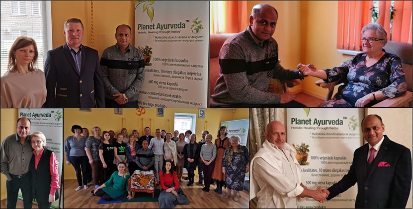 Dr. Vikram Chauhan at Lotus Yoga Center in Daugavpils, Latvia