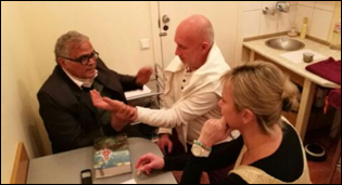 Dr. Madan Gulati during Pulse Diagnostic Experience Exchange with Sergey tao and Ayurveda Practitioner - Svetlana Nikitina (Planet Ayurveda Latvia Partners)