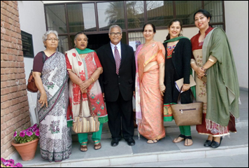 Dr. Madan gulati with Faculty of Science of Post Graduate Govt. College for Girls, Sector 42, Chandigarh