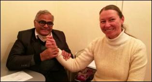 Dr. Madan Gulati with fellow of Brahma Kumaris Practitioner