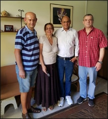 Dr. Vikram Chauhan with Dr. Dausan from Belgrade, Serbia (Red Shirt), Mr. Zoran and Ms. Karolina at Planet Ayurveda Centre in Skopje, Macedonia