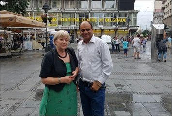 Dr. Vikram Chauhan with Dr. Leila in Belgrade, Serbia