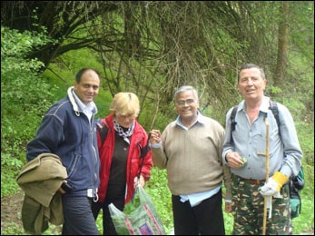 Dr. Vikram Chauhan and Dr. Madan Gulati in Vodno, Macedonia during Study of Medicinal Plants