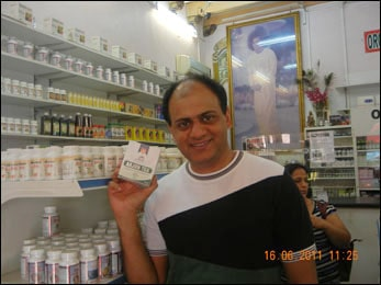 Dr. Vikram Chauhan at Planet Ayurveda Store Singapore