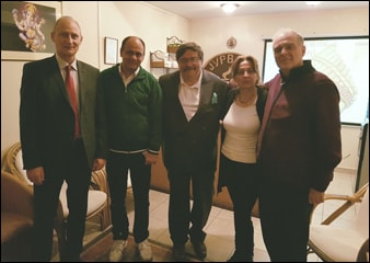 With Former President of Yugoslavia (Center). Mr. Vasil Tupurkovski and left Vladimir Bogoevski-olympic gold medalist for Yugoslavia and sashko Vukovski-minister of state for law-Macedonia, Left Ms Karolina Kichevska-Head, Planet Ayurveda Macedonia