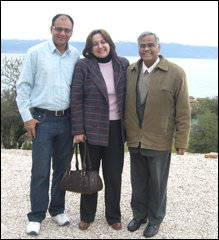 Dr. Vikram Chauhan With Karolina and Dr. Madan Gulati in Macedonia