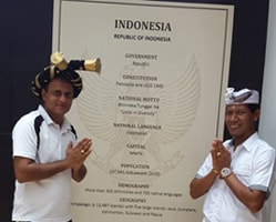 Dr. Vikram with Delegate from Indonesia