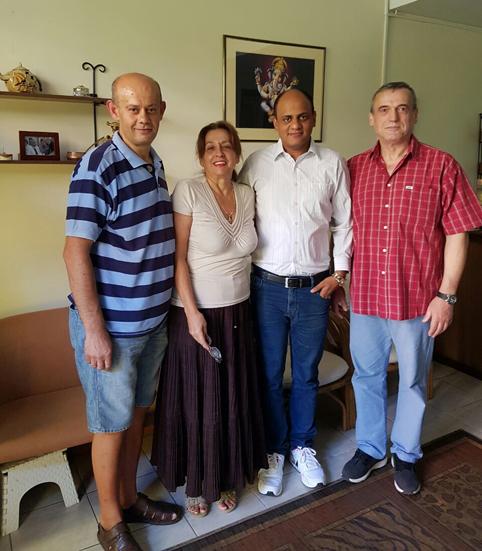 Dr. Vikram Chauhan with Dr. Dausan from Belgrade, Serbia (Red Shirt), Mr. Zoran and Ms. Karolina at Planet Ayurveda Centre in Skopje, Macedonia