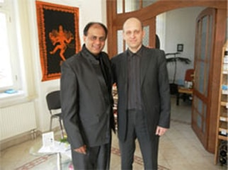Dr. Vikram Chauhan with Dr. David Frej from Czech Republic - Prague