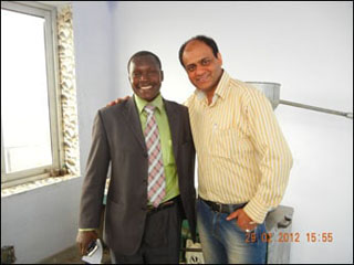 Dr. Vikram Chauhan with Dr. Samson Kibona from Tanzania