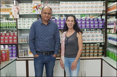 Dr. Vikram Chauhan (MD-Ayurveda) with Ms. Sylvie from France