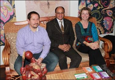 Dr. Vikram Chauhan with Slovakian Distributor