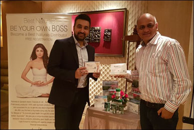 Dr. Vikram Chauhan with Mr Raj Kundra