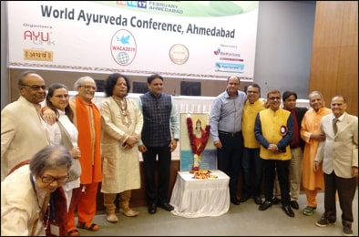 Dr. Vikram Chauhan (MD-Ayurveda) with Fellow Ayurveda Doctors during WACA 2019