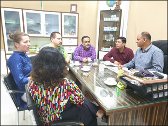 Dr. Vikram Chauhan (MD-Ayurveda) with Planet Ayurveda's Distributors from USA and Slovakia