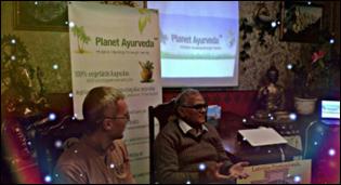 Dr. Madan Gulati Delivering lecture on Ayurveda in TAO Center, Riga, Latvia