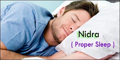 nidra, proper sleep