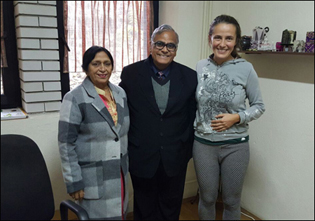 Dr. Madan Gulati with patients in Planet Ayurveda Macedonia