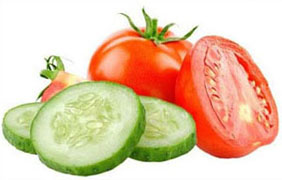 Tomatoes and Cucumber Face Pack