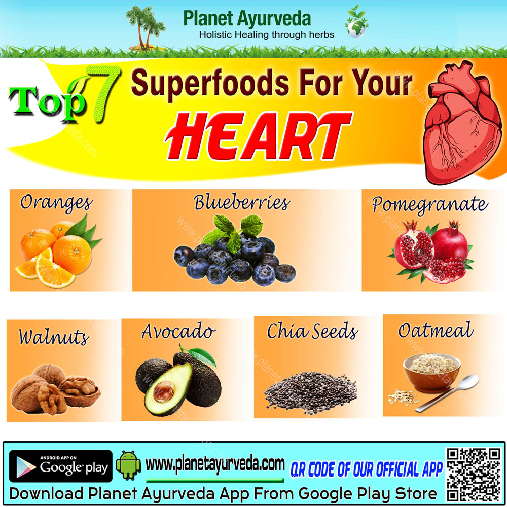 Top 7 Superfoods for Healthy Heart