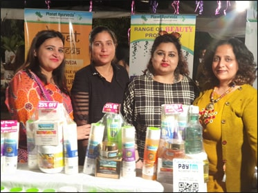 Dr. Meenakshi Chauhan at Planet Ayurveda Stall with her Respective Team During Vanity Fair Expo, Punjab