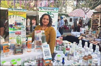 Dr. Meenakshi Chauhan at Planet Ayurveda Stall During Vanity Fair Expo, Punjab