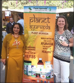 Dr. Meenakshi Chauhan with Ms. Viera Spackova (Slovakian Distributor) during Vanity Fair Expo, Punjab