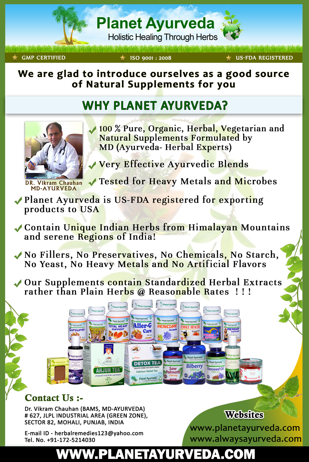 Why Planet Ayurveda Products?