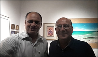 Dr. vikram chauhan with Dr. Mark Vinick