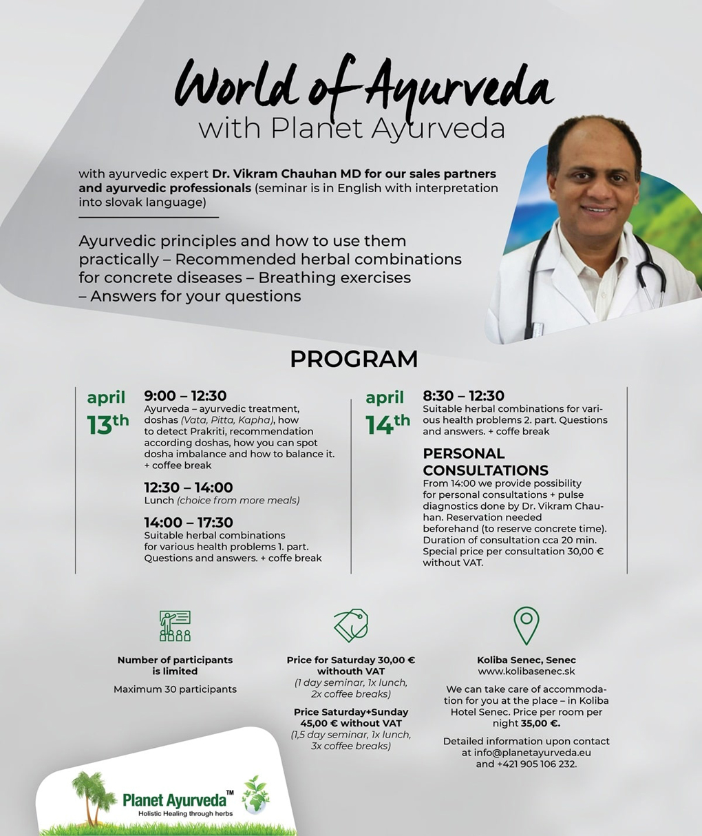 World of Ayurveda with Planet Ayurveda, Ayurvedic Seminar in Slovakia