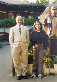 Dr. Meenakshi Chauhan with Dr. Shalindra (CEO-AYUSH, USA) in Switzerland