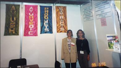 Dr. Meenakshi Chauhan at Planet Ayurveda Stall in Switzerland