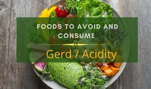 GERD / Acidity  diet charts