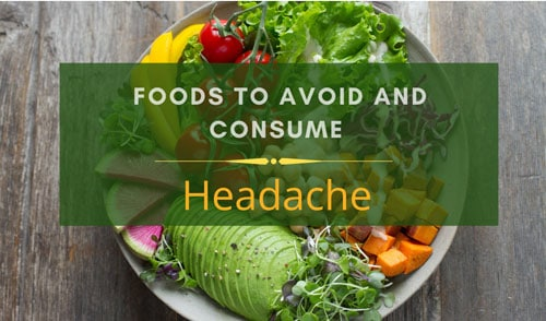 Headache diet charts
