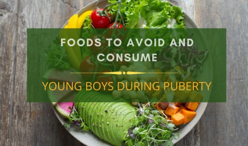 Young boys during Puberty diet charts
