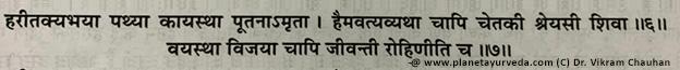Haritaki Synonmys As Bhavaprakasa
