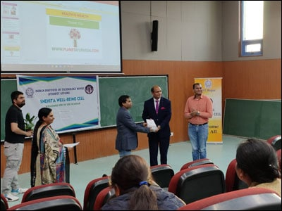 Lecture by Dr. Vikram Chauhan in IIT Ropar. He was invited as a speaker on Ayurvedic lifestyle role in modern times.